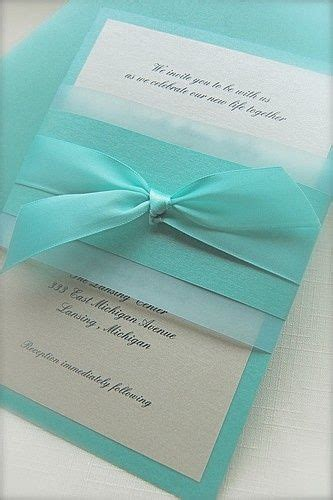 25 Best Ideas About Tiffany Wedding Invitations On