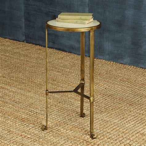 antique brass side table homart savoy iron stone side table antique brass with