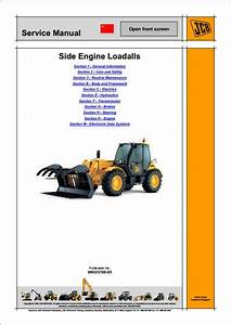 Jcb 5a And 5t Groups Side Engine Loadalls Telescopic