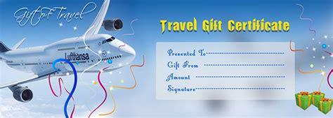 travel gift certificate template certificate template