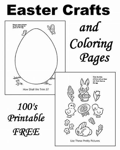 Easter Crafts Pages Children Coloring Printable Craft