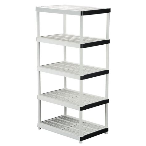 home depot shelfs hdx 72 in h x 36 in w x 24 in d 5 shelf plastic