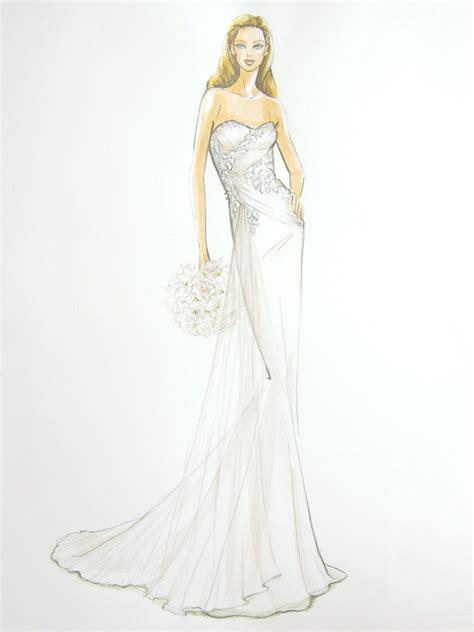 custom wedding dress fashion illustration