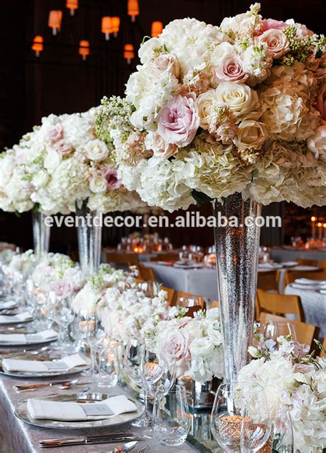 cheap tall glass vase  wedding flowers arrangement