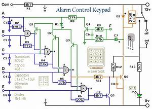 5 Digit Alarm Control Keypad Circuit Diagram