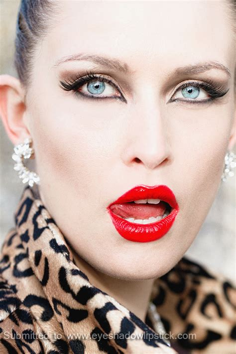 bold makeup inspiration red lips  cat eyes