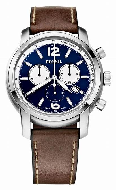 Fossil Swiss Watches Leather Chronograph Wrist Luxury