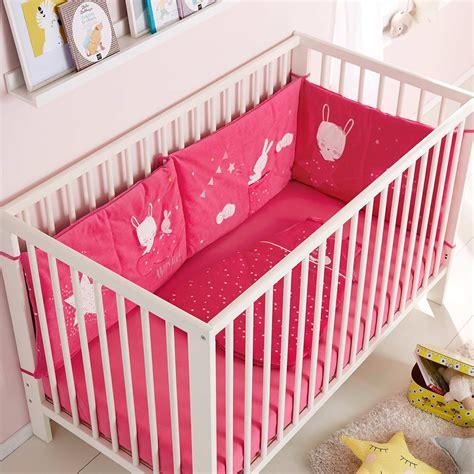 tour de lit bebe fille tour de lit lapin b 233 b 233 fille kiabi 25 00