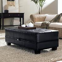 coffee table ottoman Leather Ottoman Coffee Table: Big Shelf or Rectangular Shape? | Holoduke.Com