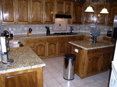 granite countertops for oak kitchen cabinets kitchen remodel oak kitchen cabinets with granite 8337