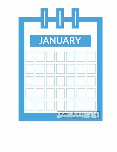Calendar Months Animated Clipart Month Transparent Objects
