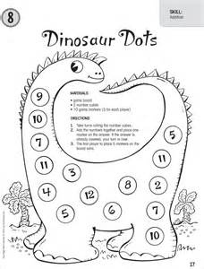 Dinosaur Math Preschool Worksheets