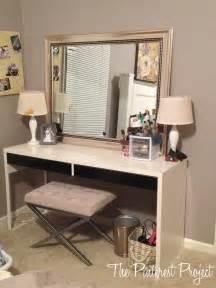 ikea hack desk into vanity the pinterest project