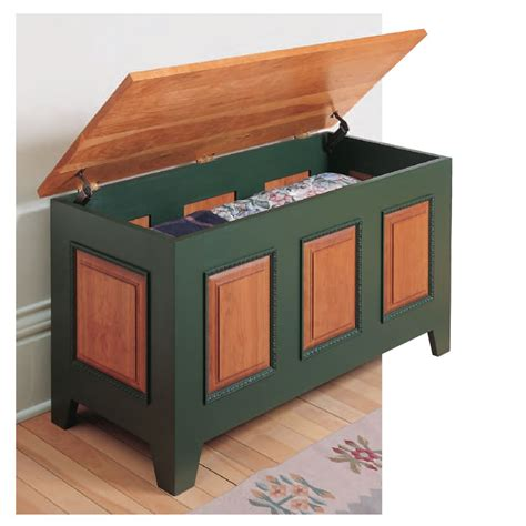 woodworkers journal heirloom blanket chest plan rockler