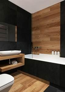 Salle De Bain Bois : 45 excellente conception idee de carrelage salle de bain ~ Dailycaller-alerts.com Idées de Décoration