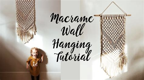 macrame wall hanging tutorial  beginners youtube