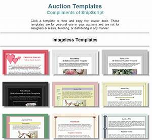 free ebay auction template generator rachael edwards With free auction template generator