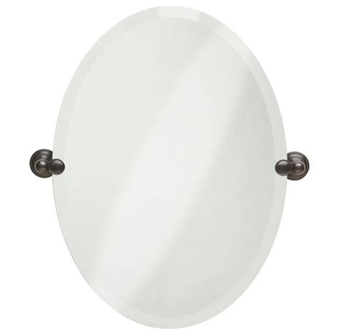tilting bathroom mirror bronze oval tilting frameless bathroom mirror beveled edges