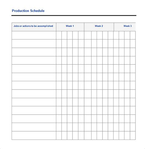 Manufacturing Schedule Template by 29 Production Scheduling Templates Pdf Doc Excel
