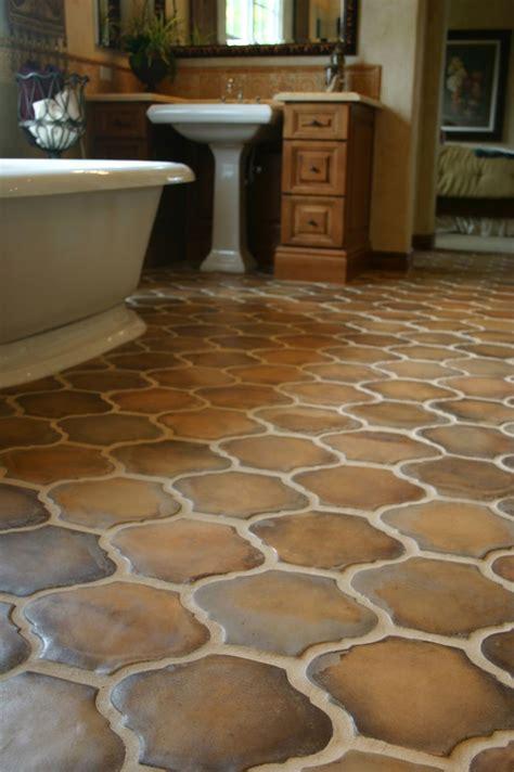 multicolor brown terracotta floor tiles   unique shape
