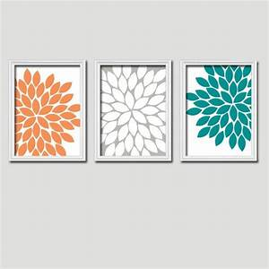 35 best teal orange decor images on pinterest With kitchen colors with white cabinets with gerbera daisy wall art