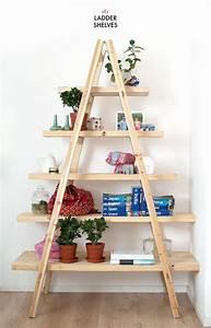 7, Best, Examples, Of, Creative, Diy, Ladder, Shelves