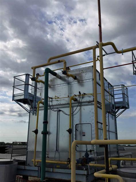 ammonia condenser installation   refrigeration