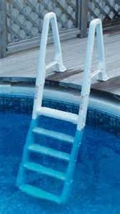 above ground deck to pool adjustable ladder confer 6100