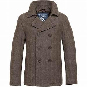 brandit us navy pea coat classic warm mens reefer wool With brown pea coat mens