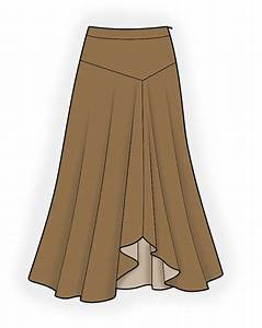 Long Skirt - Sewing Pattern #4186. Made-to-measure sewing pattern from Lekala with free online ...