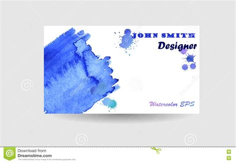 Watercolor Blue Abstract Texture Or Background Stock Image