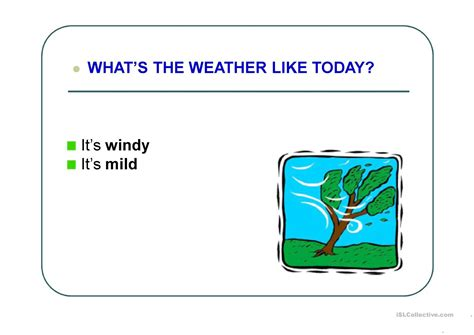 weather expressions worksheet free esl projectable