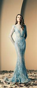 ziad nakad ice blue embellished wedding gown wedding With ice blue wedding dress