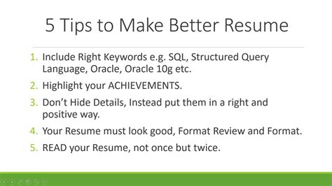 tips on resume summary why programmers should take their cv seriously 5 tips to make better resume