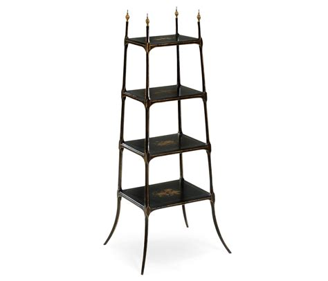 Black Etagere by Regency Style Black Four Tier 201 Tag 232 Re
