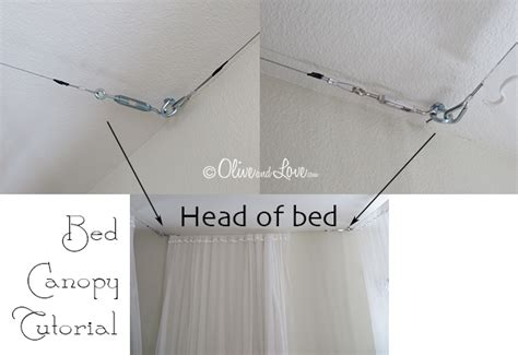 How To Tighten A Ceiling Fan by Olive And Love 187 Ceiling Mounted Bed Canopy