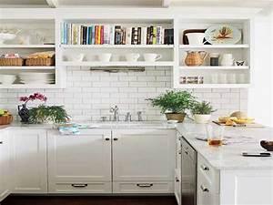 Etagere De Rangement Cuisine : etageres bois blancs pour rangement de cuisine scandinave ~ Melissatoandfro.com Idées de Décoration