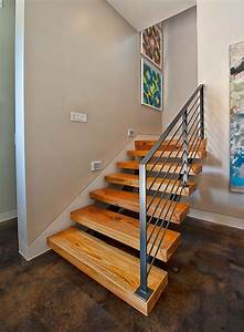 stair-railing-ideas-Staircase-Contemporary-with-accent