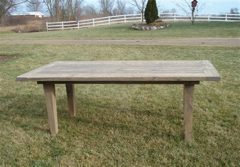 Wood Kitchen Furniture by Amish Rustic Plank Farmhouse Dining Table Barn Wood