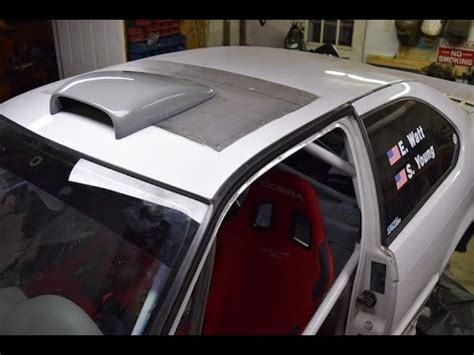roof scoop installation   sunroof delete youtube