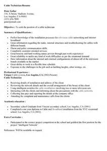 Structured Cabling Resume by Cable Technician Resume Sales Technician Lewesmr