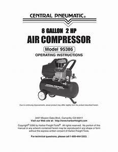 Harbor Freight Tools 95386 Air Compressor User Manual