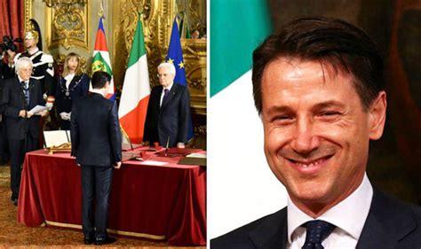 italy news giuseppe conte sworn   prime minister