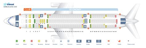 siege air transat air transat class seating plan napma