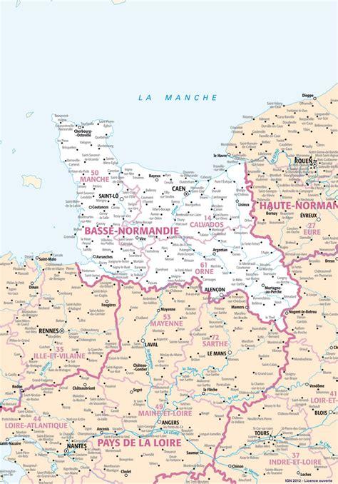 carte region basse normandie plans et cartes de la r 233 gion basse normandie