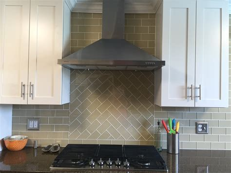 subway kitchen tiles backsplash stunning khaki glass subway tile chevron pattern above the