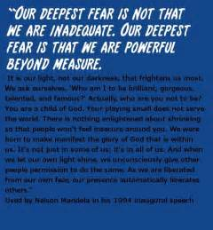Nelson Mandela Our Deepest Fear Quote