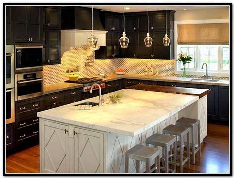 espresso kitchen island espresso kitchen cabinets with white island kitchen 3596