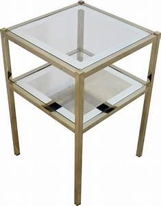 Table D Appoint Miroir : table d 39 appoint en verre miroir 1970 design market ~ Teatrodelosmanantiales.com Idées de Décoration