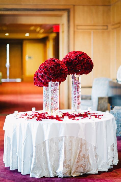 15 Romantic Red Wedding Centerpieces Ideas 19319